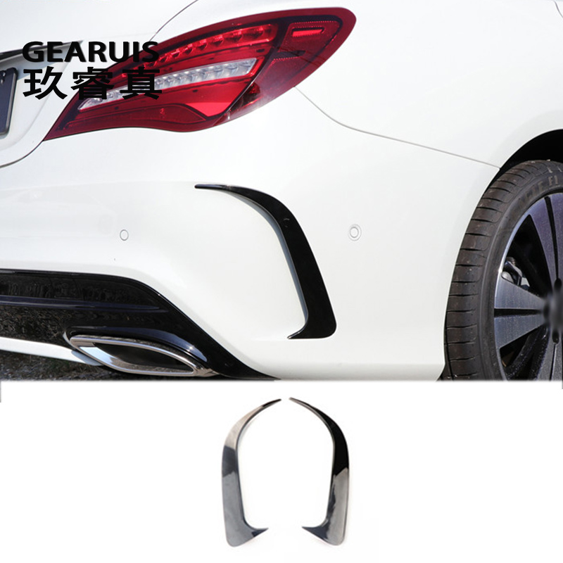 Car Styling Rear Side Mirror Body Stickers Covers Trim Decorative For Mercedes Benz CLA C117 220 260 200 2017 Auto Accessories