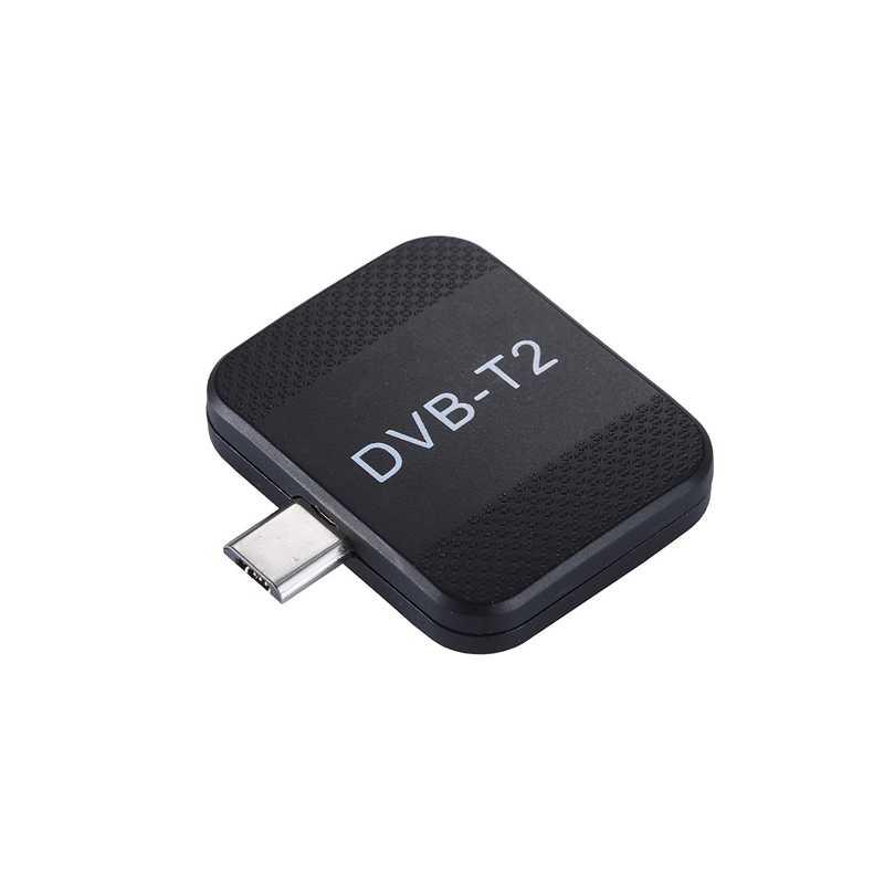 Mini portátil Micro-Usb Dvb-T2 y DVB-T sintonizador TV Android Stick Dongle receptor para Samsung Htc teléfono Android