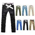 Men's Stylish Korean Style Trousers Casual Straight Slim Fit Long Pants Jeans