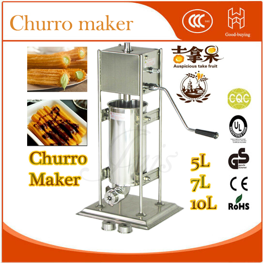 manual 304 stainless steel 10L spanish doughnut snack machine filler+ Churro machine 3 head 304 stainless steel french fry holder creative restaurant and bar snack snack ktv for food display stand