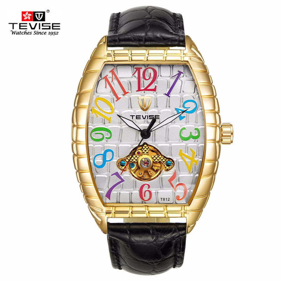 TEVISE Automatic Mechanical Mens Watch Crocodile Skin Case Tourbillon Man Watch Waterproof Leather Wristwatches Male ClockTEVISE Automatic Mechanical Mens Watch Crocodile Skin Case Tourbillon Man Watch Waterproof Leather Wristwatches Male Clock
