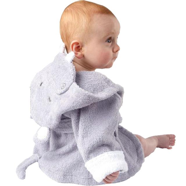 Manera libre del envío Nueva forma Animal de la Historieta Trajes del bebé con capucha toalla de baño albornoz Infantil kid niño niña