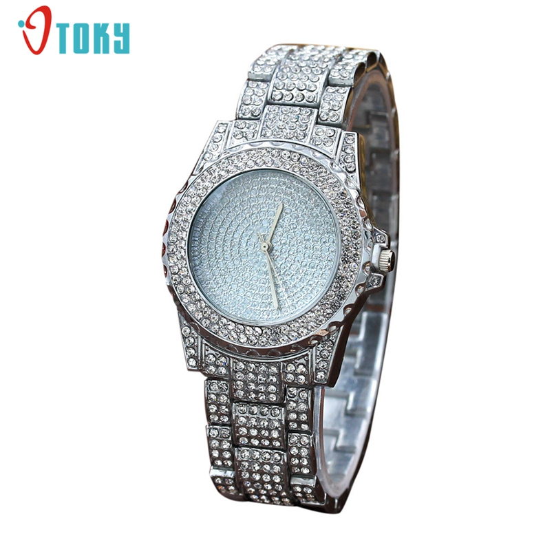 Excellent Quality Crystal Rhinestone Watches Women Dress Clock Ladies Gifts Quartz Wristwatches Watch Reloj For Girls Fashion