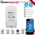Sonoff Pow R2 15A измеритель мощности монитор беспроводной WiFi переключатель с функцией распределения времени дистанционное управление Умный дома...