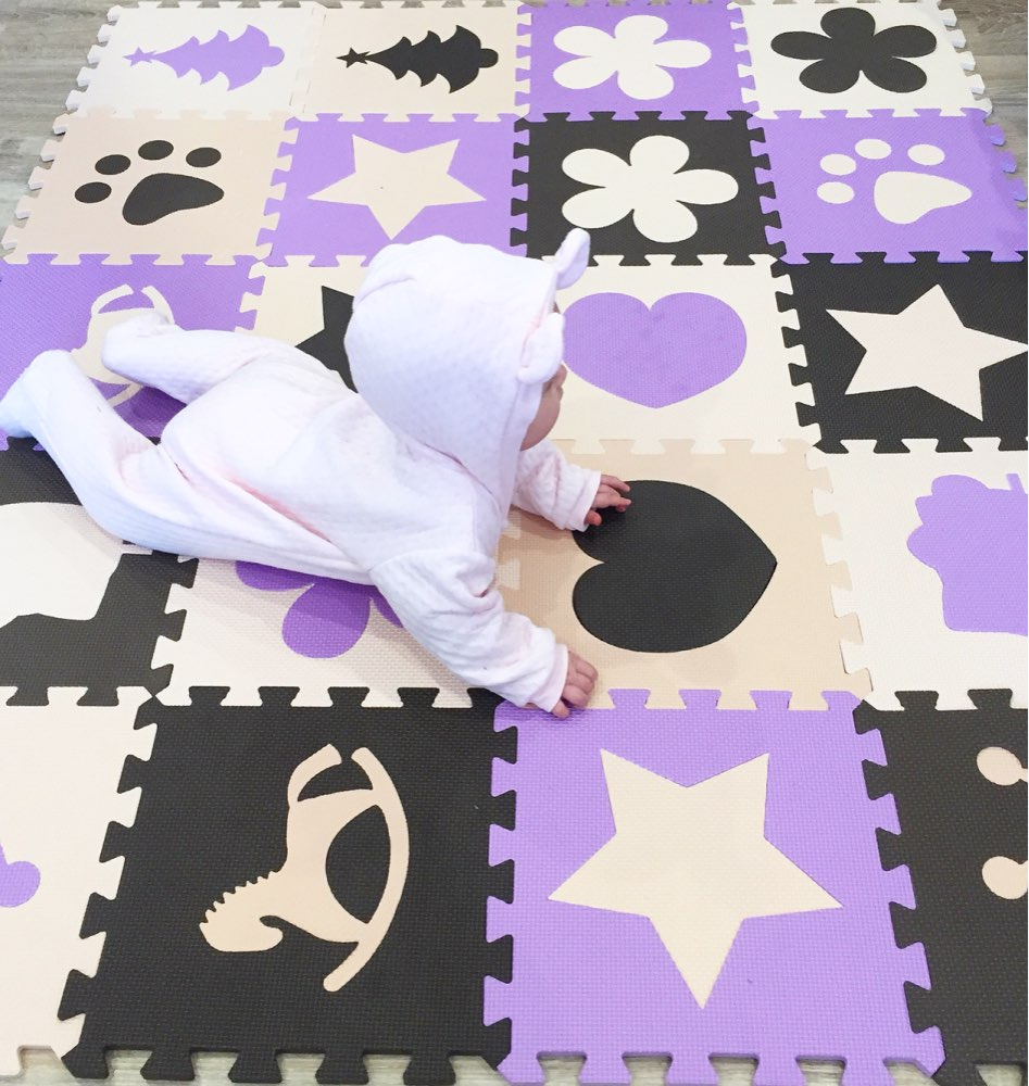 Lerhan Children's Soft Developing Crawling Rugs,baby Play Puzzle Number/Star/cartoon Eva Foam Mat,pad Floor For Baby Games