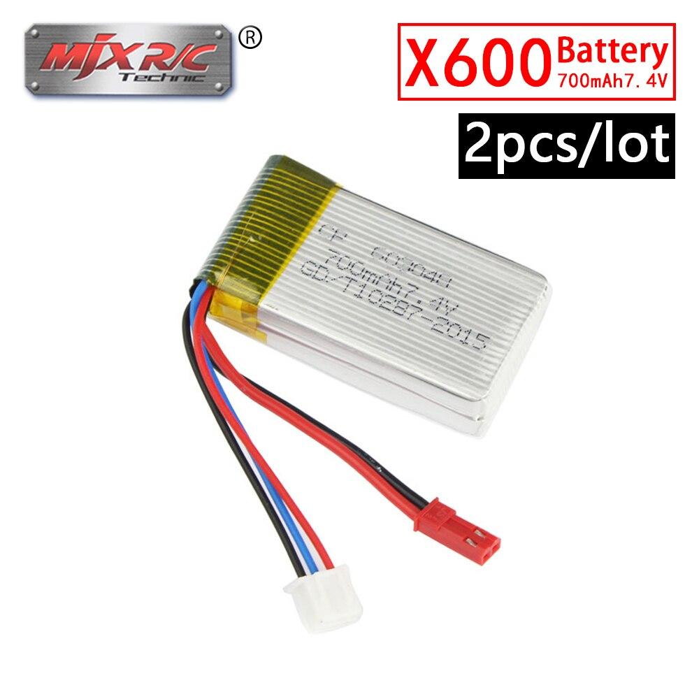 MJX X600 RC Quadcopter 2PCS/Lot 7.4V 700mAh 25C LiPo Battery RC Drone Spare Parts
