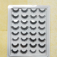 16 pairs cruelty free natural false eyelashes fake lashes long makeup 3D mink lashes extension eyelash mink eyelashes for beauty