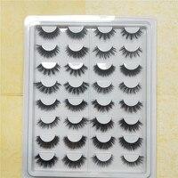 16 pairs cruelty free natural false eyelashes fake lashes long makeup 3D mink lashes extension eyelash mink eyelashes for beauty