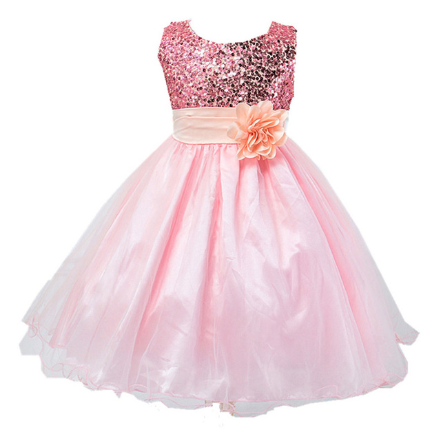 Pink Princess Dresses Girls Pink Dresses Flower Girl Pink Dress Special Occasion Pink Dresses Wedding Dress For 2-12 Years Old