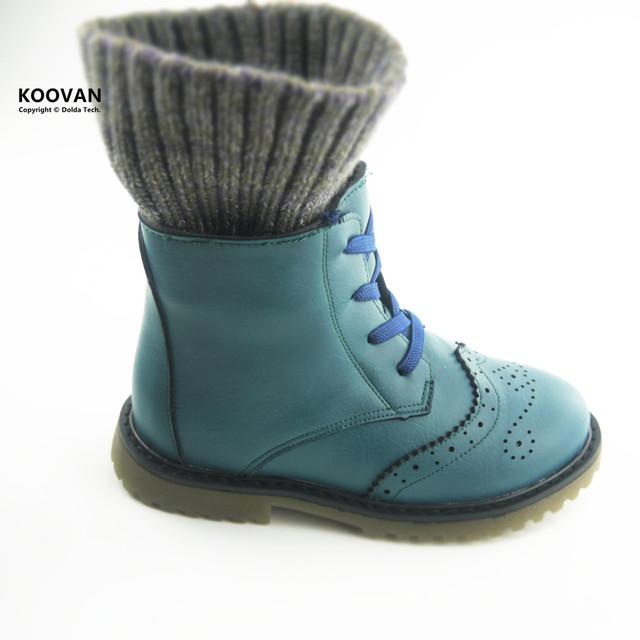 Koovan 2016 Nueva Moda de Invierno Zapatos de Los Niños Calientes de Los Niños de Arranque Niños Niñas Zapatos Botas Martin de Algodón Acolchado de Lana Flanger zapatos