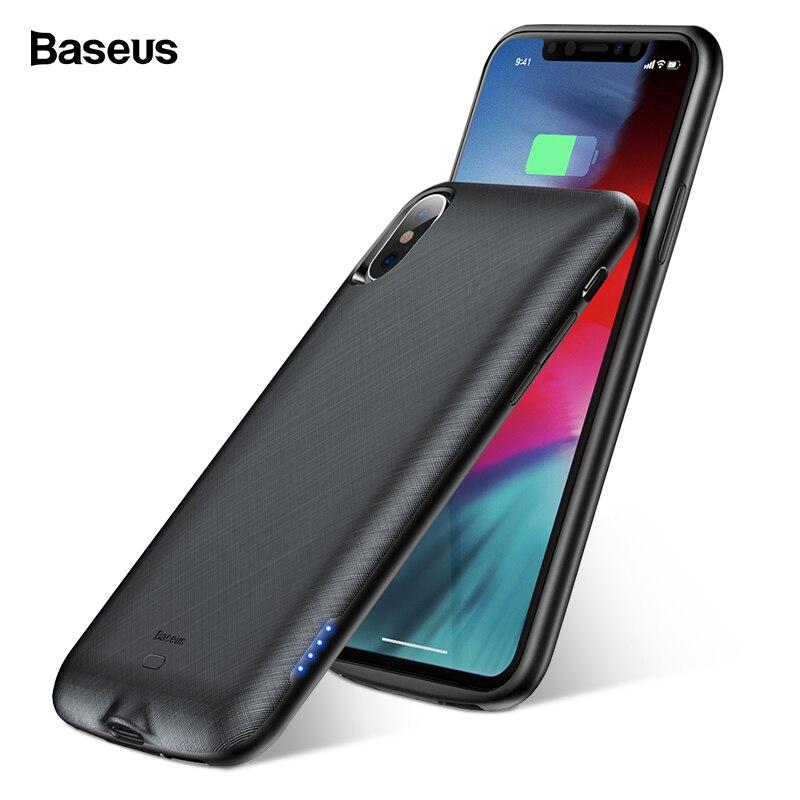 Baseus 4000 mah Batterie Cas Pour iPhone XS X Power Bank Cas De Charge De Batterie Externe Couverture Chargeur Pour iPhoneXs X retour Coques