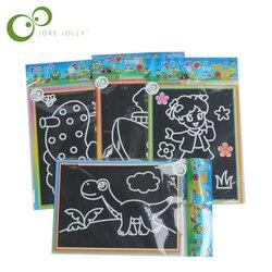 10 stücke 13x9,8 cm Scratch Kunst Papier Magie Malerei Papier mit Zeichnung Stick Für Kinder Spielzeug Bunte Zeichnung spielzeug