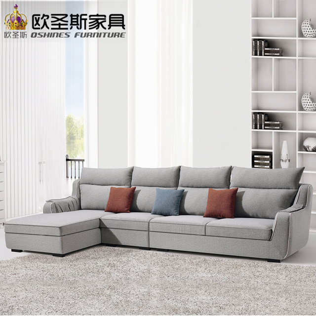 Suede Living Room Furniture Sofa And Chair Sets Fair Cheap Low Price 2017 Modern New Design L Shaped Sectional Velvet Fabric Corner Set X298