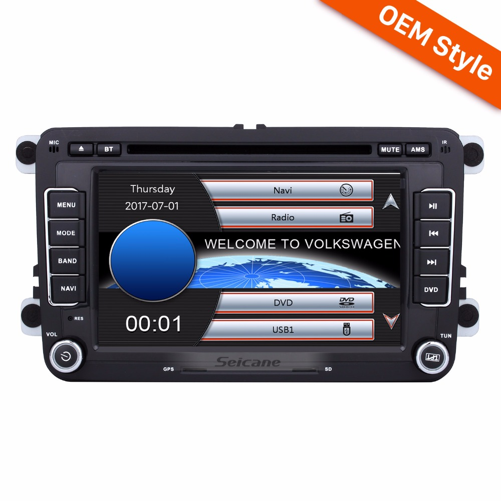 Seicane 7 2 Din Car DVD Player Stereo For VW Volkswagen POLO PASSAT Golf Seat Quad