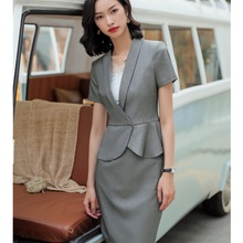 8662be7e3470d Buy skirt suit grey and get free shipping on AliExpress.com