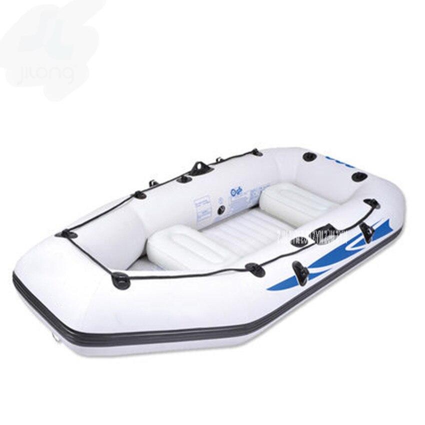 3 + 1 Preson bateau gonflable PVC matériel bateau gonflable taille 284*132*38 cm, aluminium reconstitué, pompe à main, housse de transport, 2 oreillers