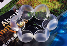 Transparent spherical Baby Safety crash protection Table L corner protector thickening send 3M