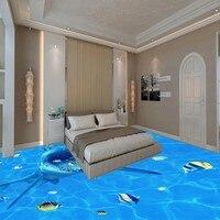Vận Chuyển miễn Phí Big ăn cá nhỏ hình nền phòng khách phòng tắm nhà bếp tự-sàn dính sàn bức tranh tường