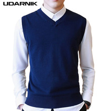 Men 면 Sleeveless V 넥 Jumper 풀 오버 니트 Vest 풀 오버 양복 Plus Size M-2XL Smart Casual Jacket 901-265(China)