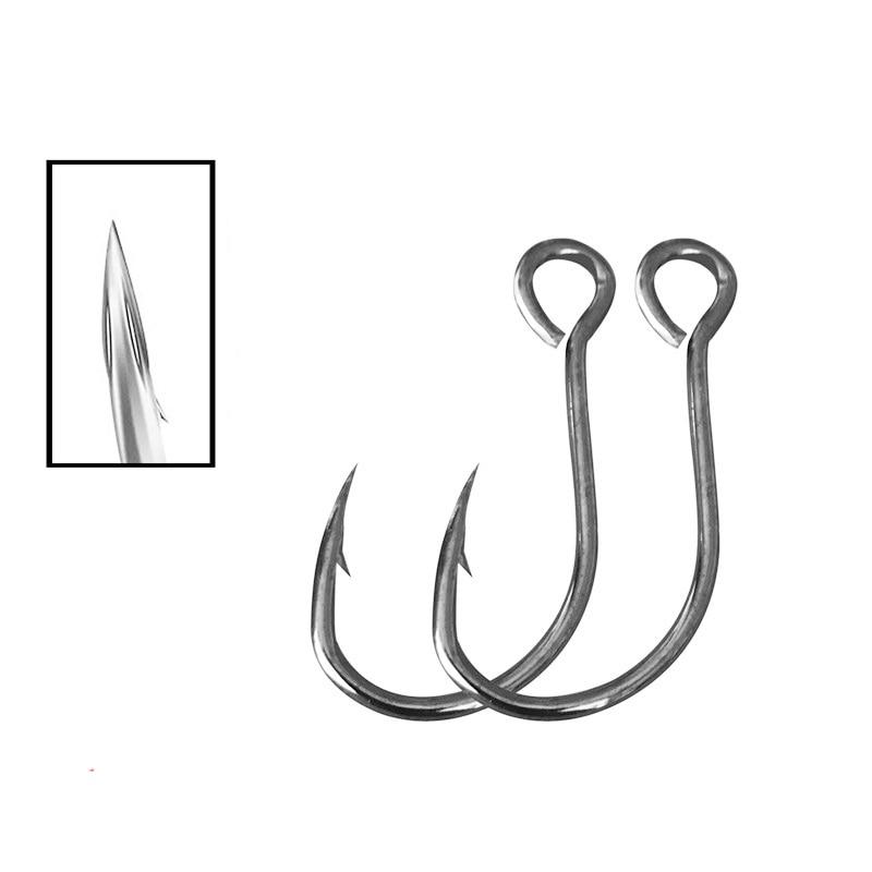 20pcs Big Eye Fishing Hook Lure Spare Single Fish Lure Hooks Inline Hook Tackle