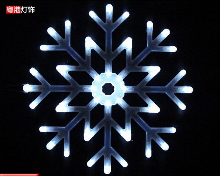 New arrival waterproof led lights christmas light decoration lighting string wedding supplies large snowflake lights 40cm x 5pcs