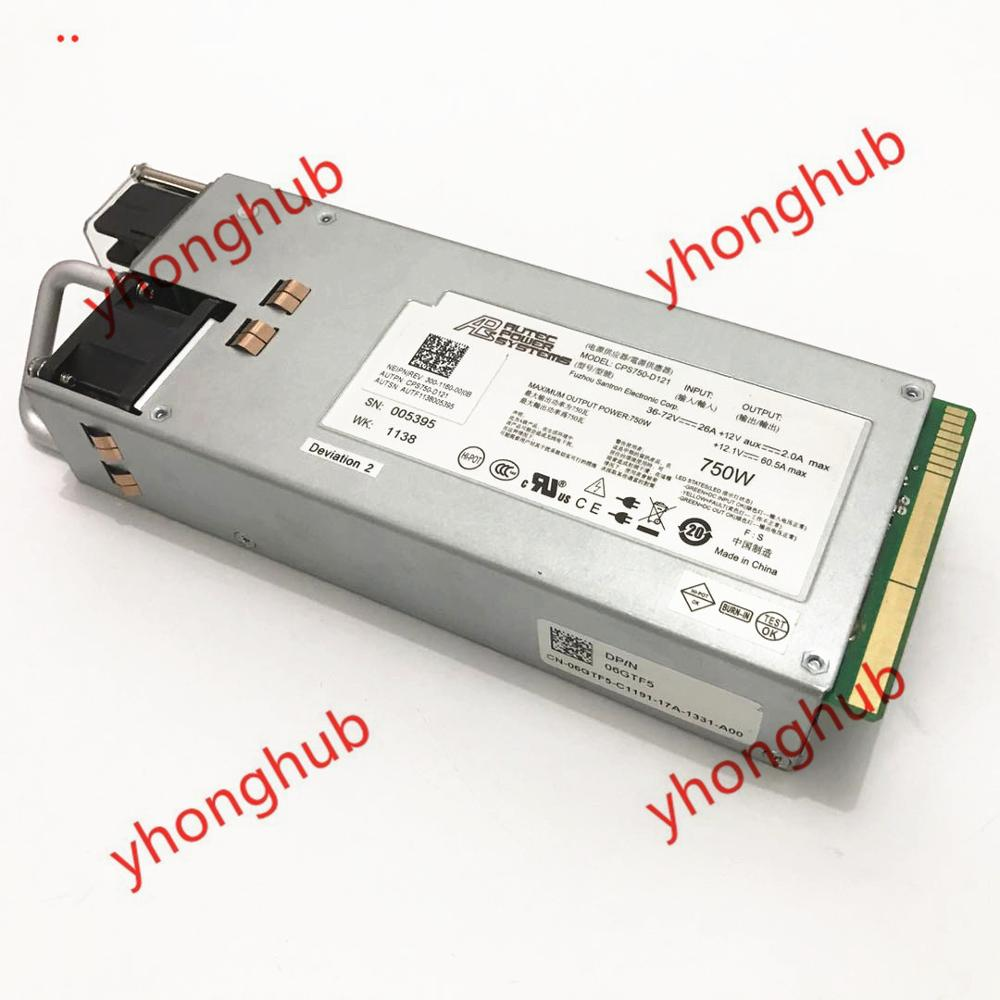 DC power supply 750W 6GTF5 CPS750-D121 for DELL R510//R910 server