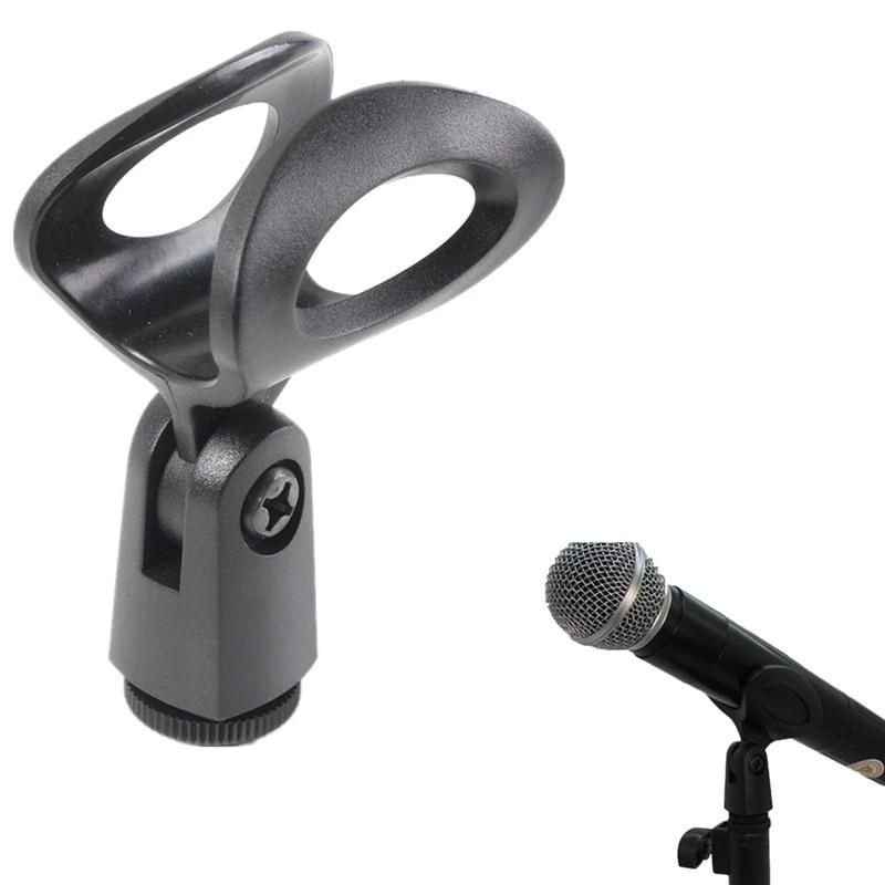Analytisch Universal Kunststoff Mikrofon Clips Halter Flexible Gummierte Stehen Halterung Für Verdrahtete/drahtlose Mikrofon Schwarz Ein GefüHl Der Leichtigkeit Und Energie Erzeugen