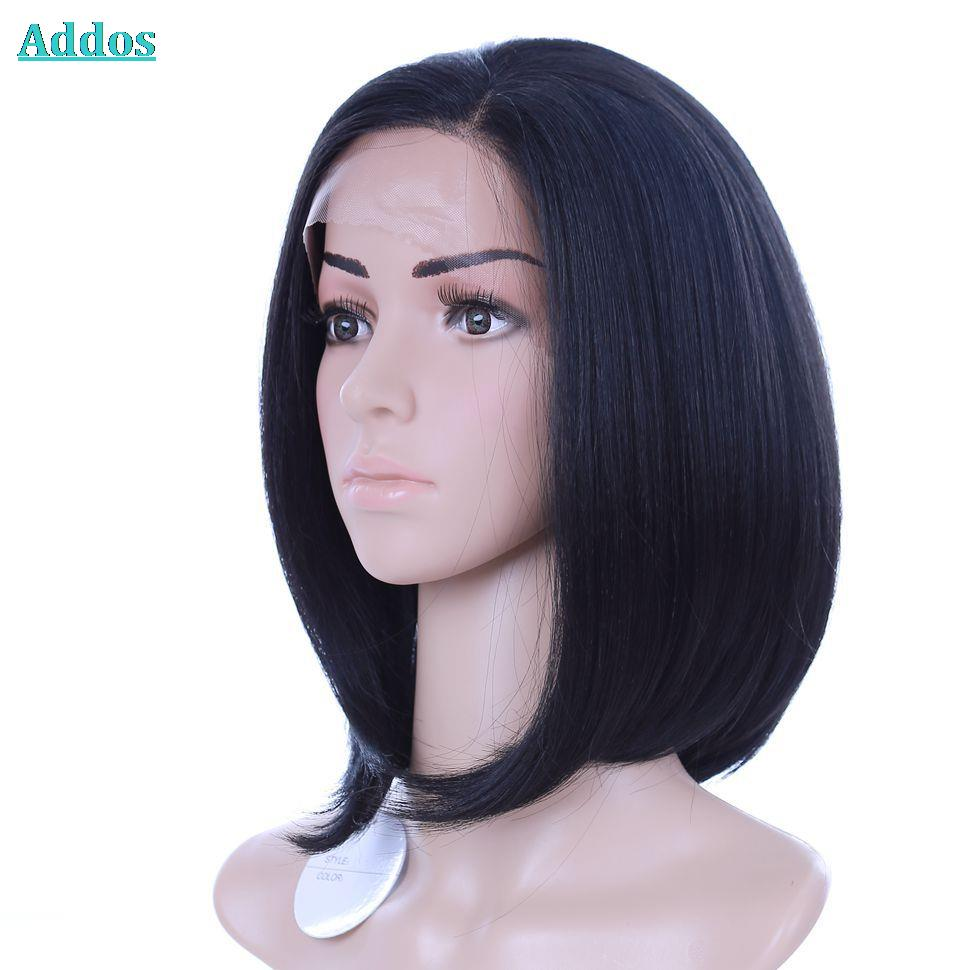Short bob lace front wigs black woman can