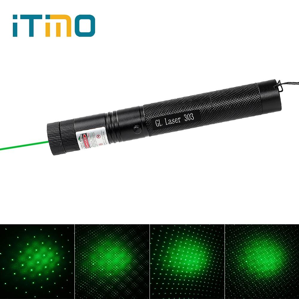 Itimo 303 лазерная ручка зеленый лазерная указка Звездное 5 МВт головы сжигание матч регулируемый высокое Мощность 18650 Батарея