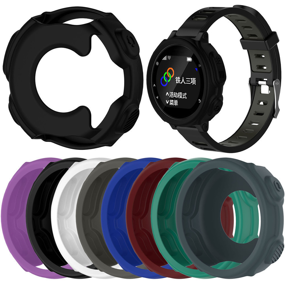 NEW High-quality Silicone Wristband Bracelet Protector Case Cover for Garmin Forerunner 235 / 735XT GPS Watch Shell front case cover glass with lcd screen for garmin forerunner 920xt gps watch black blue and white red