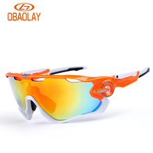 Obaolay Glasses for Biking MTB Polarized Bicycle Cycling Sport Glasses Goggles Eyewear Oculos Ciclismo Sunglasses for Men Women