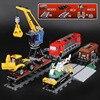 Lepine City 02009 1033pcs Engineering Remote Control RC Trail Train Building Blocks Bricks With 60098 Children