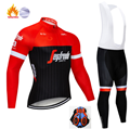 2019 Spain Men Winter Thermal Fleece Jerseys Long Sleeve Set Cycling jerseys training race Bicycle Tight Cycling Clothing|Cycling Sets| |  -