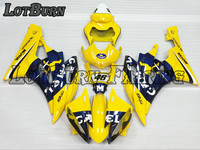 Custom Made Motorcycle Fairing Kit Fit For Yamaha YZF600 YZF 600 R6 2006 2007 06 07 ABS Fairings fairing kit Injection Molding