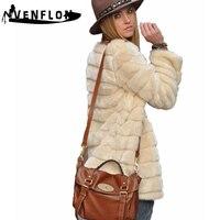 VENFLON Women Faux Fur Coat Winter Casual Plus Size Fur Jacket Female Thick Warm Overcoat Women Long Sleeve Casaco Feminino 3XL