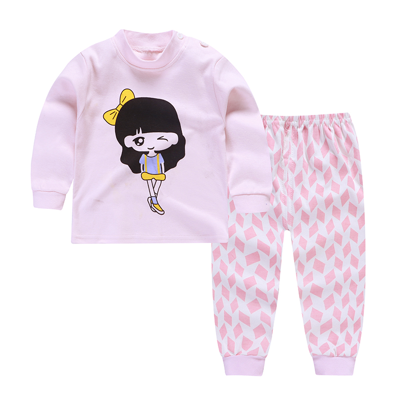 2019 new style 100 cotton cartoon toddler underwear clothing sets high quality season baby boys and girls boutique clothing set in Clothing Sets from Mother Kids