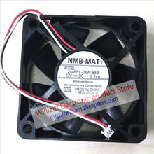 New Original NMB 2406RL-04W-S59 CA1 6CM 60*60*15MM 12V 0.24A Projector cooling fan