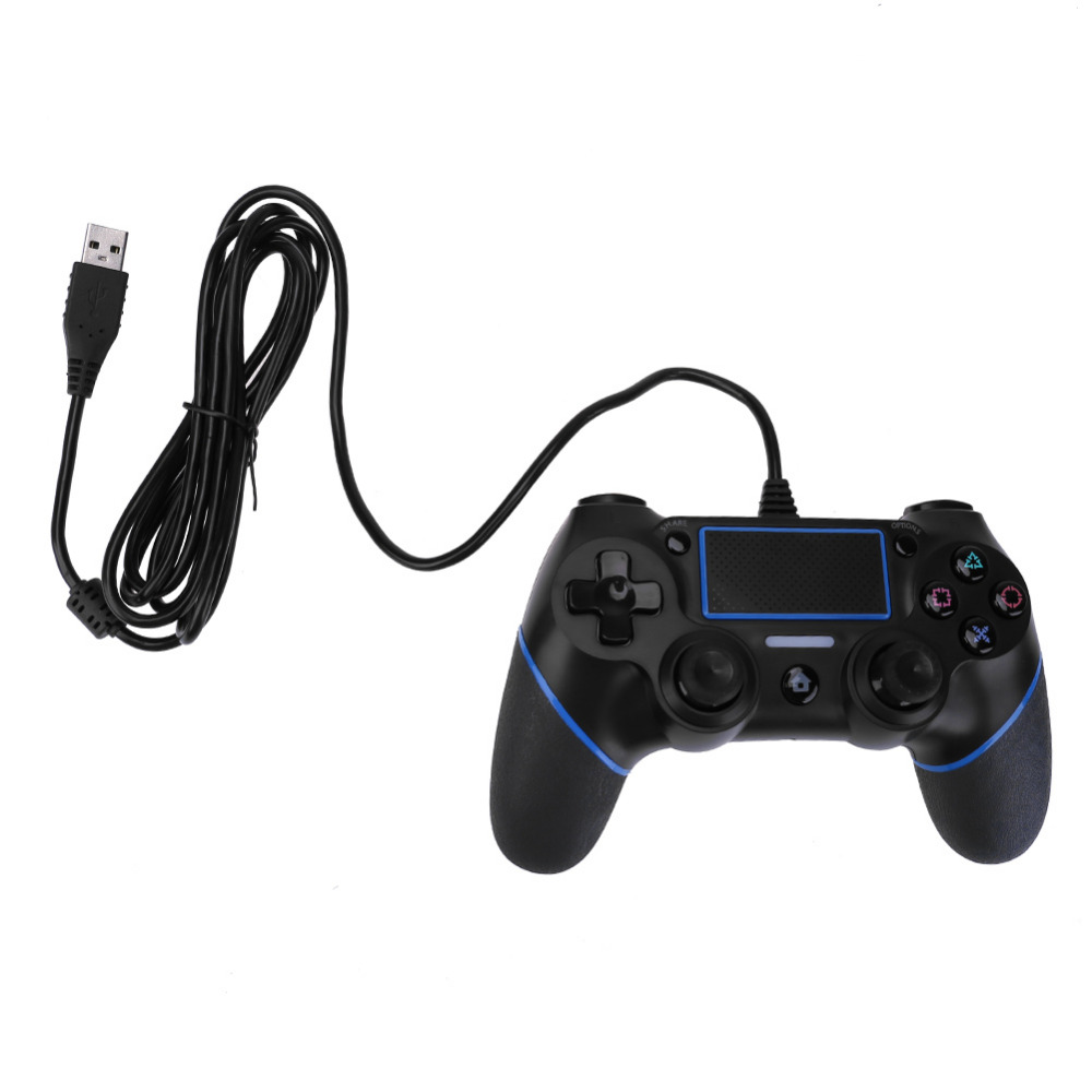 VODOOL USB Wired Joypad Wired Game Controller for PlayStation 4 Console Joystick For Mic ...