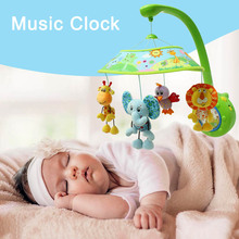 Safe Baby Toddler Mobile Crib Bed Toy with four Dolls Cute Soft Animal Handbells Infant Bell Hanger  YH-17