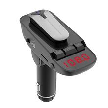 Wireless Bluetooth FM Transmitter Car Kit Detachable headset Handsfree Dual USB Quick Charger Radio Adapter MP3 Player