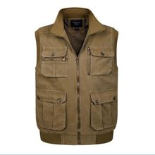 new S-4XL Men Vest Masculino High Quality Sleeveless Jacket Homme Classic Unloading Tactical Waistcoat Man multi-pocket vest
