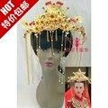 Невеста корона свадьба cheongsam hanfu одежда волосы расческой аксессуары для волос Китайский стиль невесты костюм волос диадемы