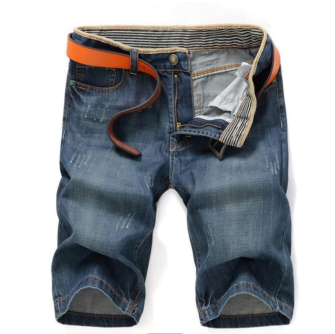Free shipping 2017 new summer men Thin section Straight cultivate one's morality youth denim shorts Factory Cheap wholesale free shipping factory direct sales good quality new spring summer 2016 korean version brand men straight jeans cheap wholesale