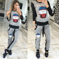 S 2016 XL Speed Sell Through Ebay Long Sleeved Pants Sports Leisure Fleece Suit Hot Style
