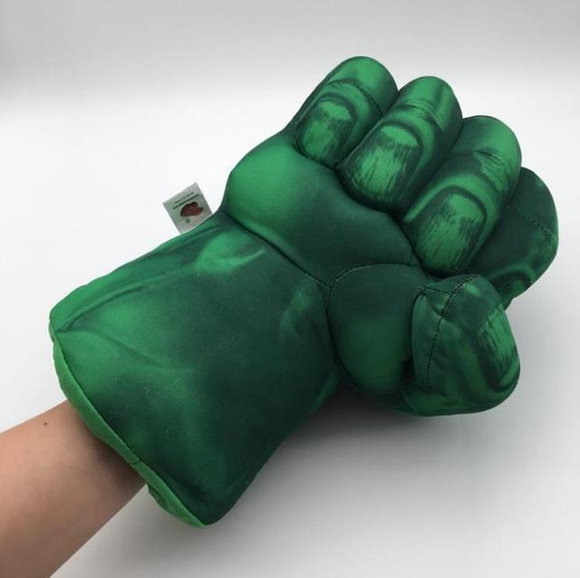 Peluche 13''33cm The Avengers Superhero Luvas De Pelúcia Macia Recheado Incrível Hulk Mãos de Smash