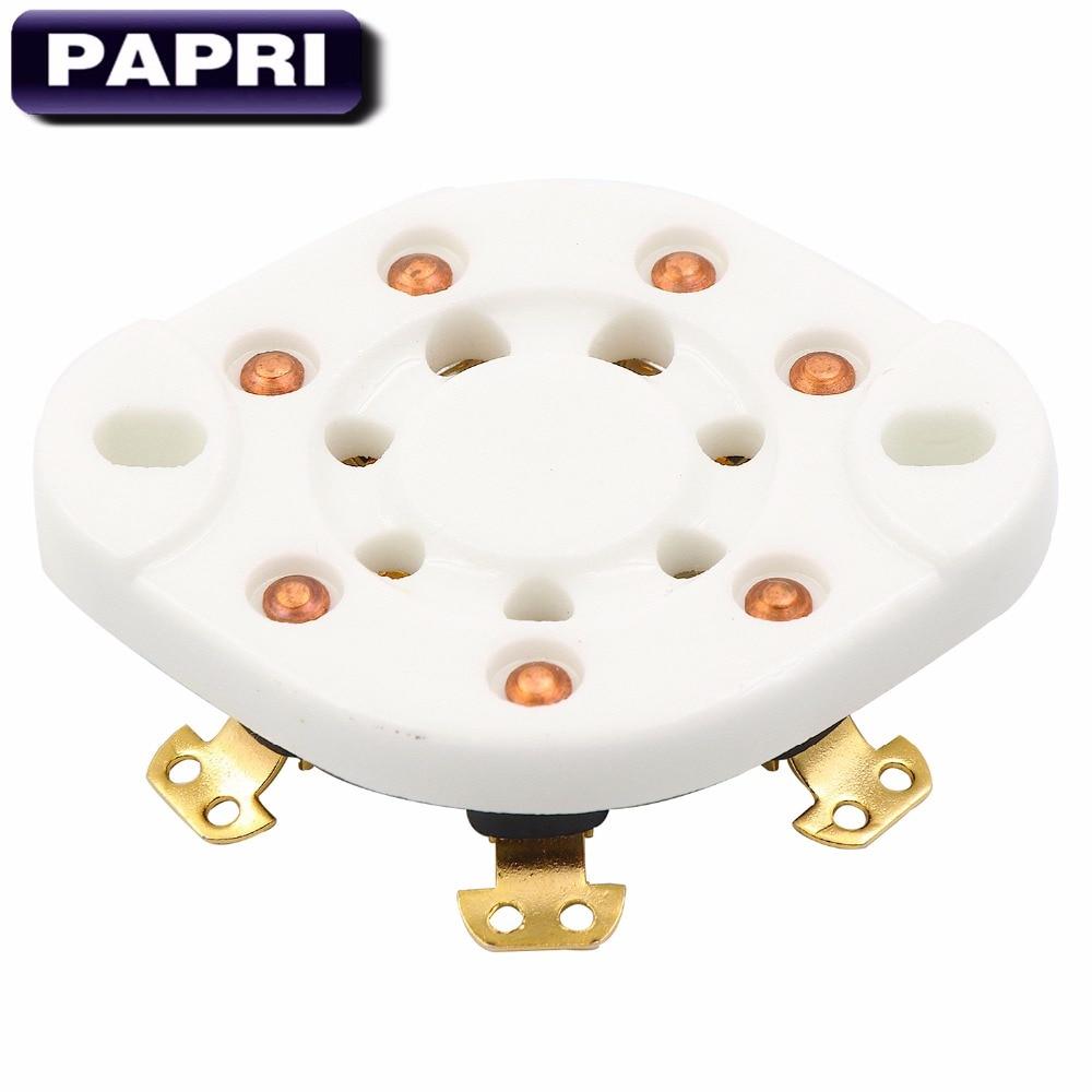 Papri 1 Stücke Fu-25 832 826 1625 6a6 Chassis Montieren Keramik Vergoldet 7pin Rohr Buchse Audio Hifi Diy Rohr Verstärker