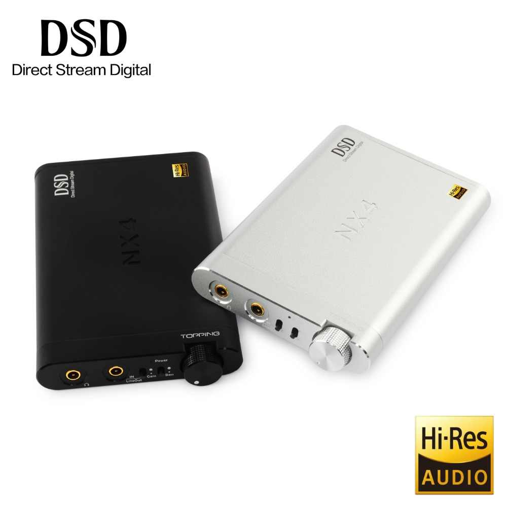 Baru Topping NX4 DSD XMOS-XU208 Chip DAC ES9038Q2M Chip Portable USB DAC DSD Decoder Amplifier Headphone Amp Amplifier
