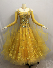 Standard Ballroom Dance Dress Adult 2019 New Yellow Waltz Dancing Costume Women Competition Dresses