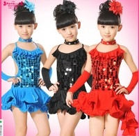 Children S Latin Dance Dress Girls Dancing Dress Children S Costumes Sequins Dance Skirt Of The