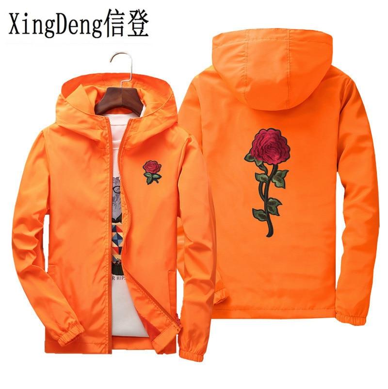 73f619d5 XingDeng outdoors fashion jacket windbreaker men women rose loves' clothes  college jackets plus size S-6XL